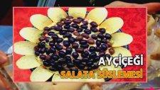 Zeytinli Ayçiçeği Salata Süslemesi - Kekevi Salata Tarifleri