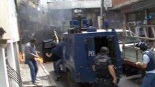 Okmeydanı Karıştı Polis Havaya Ateş Açtı