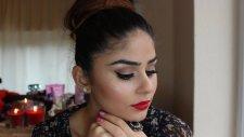 kırmızı halı makyajı || klasik kırmızı ruj ve eyeliner