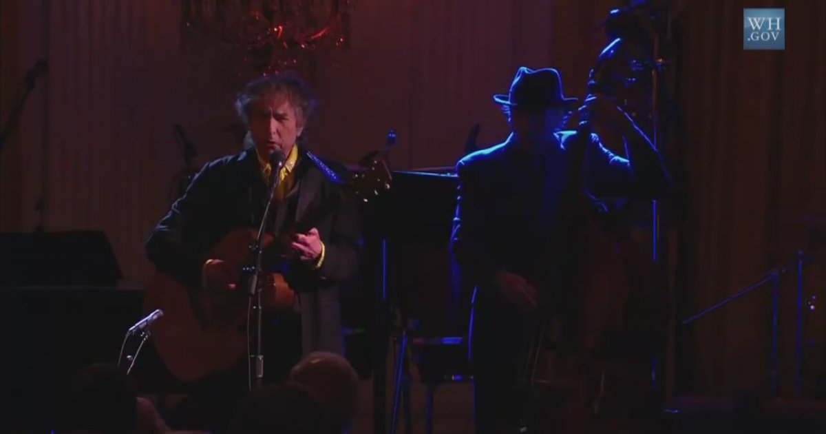 In Performance At The White House Bob Dylan