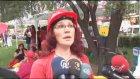 """Bursa'da """"Kırmızılı kadın"""" yürüyüşü"""