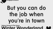 Selena Gomez & The Scene - Winter Wonderland (Hq/lyrics On Screen)