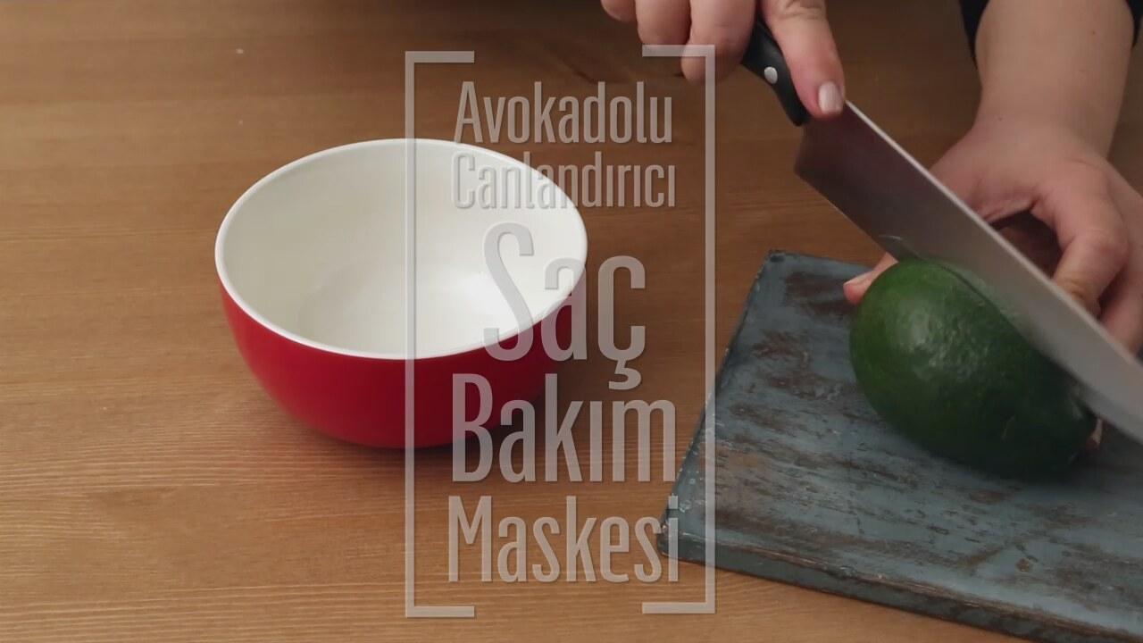 Avokadolu saç maskesi