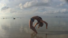 Beach Yoga İn Koh Samui: Deep Backbend, Grabbing The Ankles