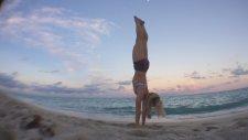 Kino Yoga Miami Beach Sunset Handstand