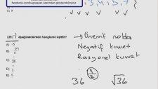 Aöf - Genel Matematik 1 Çözümleri  (Bölüm 1 )   Yeni Videolar İçin Abone Olabilirsiniz