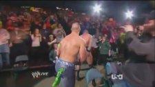 Wwe Monday Night Raw 20/01/14 Kofi Kingston Vs Randy Orton (john Cena Attacks)