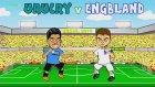 Uruguay - İngiltere Maçı Çizgi Film Oldu!