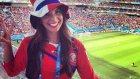 Kosta Rika'lı güzel spiker göz kamaştırdı