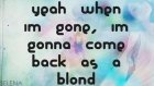 Selena Gomez - As A Blonde {lyrics On Screen}