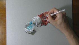 Gerçek bir diş macunu tüpü nasıl çizilir