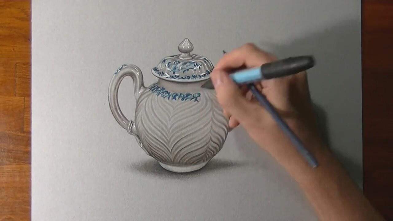 Karakalem vazo nasıl çizilir