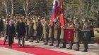 Slovenya Cumhurbaşkanı Pahor Çankaya Köşkü'nde