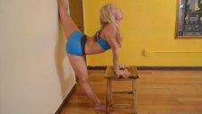Yoga Wall Stretch For Splits And Natarajasana With Kino