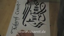 Kaligrafi Latin Hat Sanatı