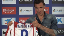 Atletico Madrid, Mandzukic'i Basına Tanıttı!