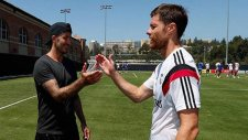 David Beckham, Real Madrid antrenmanında...