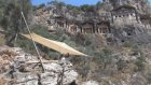 Kaya mezarlarının önüne seyir terası yapılıyor - MUĞLA