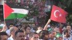 İsrail'in Gazze saldırılarının protesto edilmesi