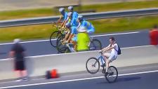 Fransa Bisiklet Turu'nda güldüren olay!