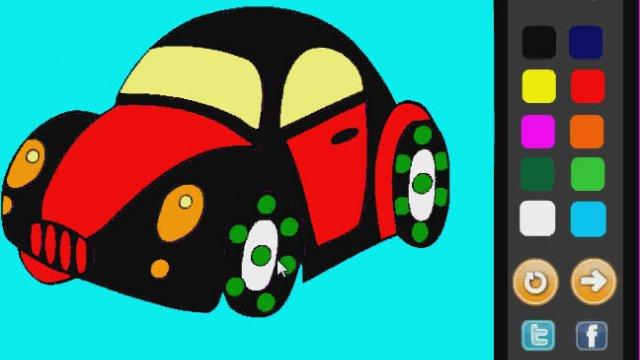 Kaplumbaga Arabası Boyama Oyunu Izlesenecom