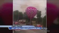 Uçan Balon Elektrik Tellerine Böyle Çarptı