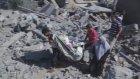 Saldırıların ardından Beyt Hanun'daki evler harabeye döndü - GAZZE