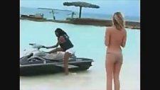 Plajda İnanılmaz Jet Ski Kazası