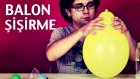 Kuru Buzla Balon Şişirme Deneyi