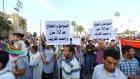 Bingazi'de toplanan yüzlerce kişi, hükümet karşıtı gösteri düzenledi - LİBYA