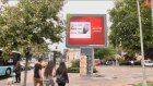 AA seçim çalışmaları görseli, açık hava ekranlarında - İSTANBUL
