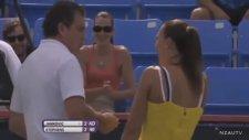 Tenis Maçında Talihsiz Kaza