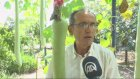 Bahçesinde 2 metrelik kabak yetiştirdi - DENİZLİ