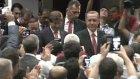 Cumhurbaşkanı Recep Tayyip Erdoğan Salona Davutoğlu'yla Geldi