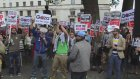 İsrail'in Gazze'ye saldırıları protesto edildi - LONDRA