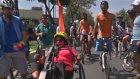 Üç tekerlekli bisikletle Amsterdam'dan İstanbul'a geldi
