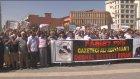 Gazetecinin kaçırılmasını protesto edildi - DİYARBAKIR