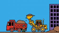 Kamyonlar Ve İş Makineleri Çizgi Filmi