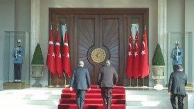 Cumhurbaşkanı Recep Tayyip Erdoğan ve eşi Emine Erdoğan'ı Karşılama Töreni