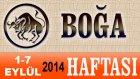 BOĞA Burcu HAFTALIK Astroloji Yorumu videosu, 1 7 Eylül 2014, Astroloji Uzmanı Demet Baltacı