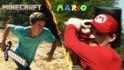 Mario ve Minecraft Kavga Ederse
