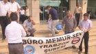 Büro Memur-Sen üyelerinden protesto - TRABZON