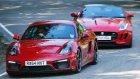 Jaguar F-Type Coupe - Porsche Cayman Gts Kapışması