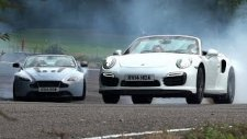 Porsche 911 Turbo S  -  Aston Martin V12 Vantage S Düellosu