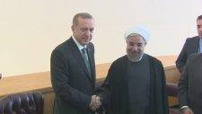 New York'ta İran Cumhurbaşkanı Ruhani İle İkili Görüşme Gerçekleştirdi