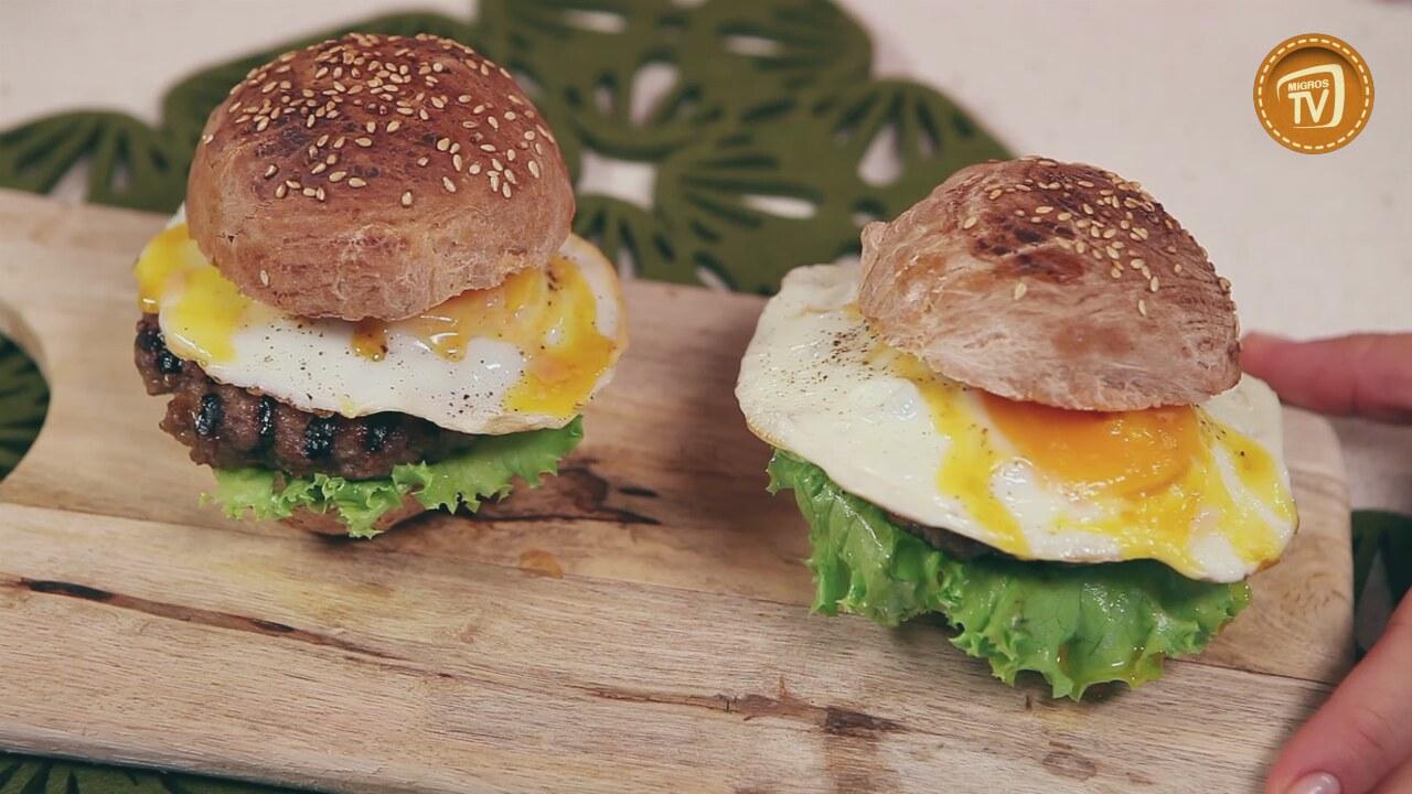 Pastırmalı cheeseburger tarifi