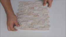 2 3x4 8 Bej Mermer Patlatma Doğal Taş
