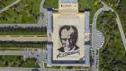 Anıtkabir'de Dev Atatürk Portresi