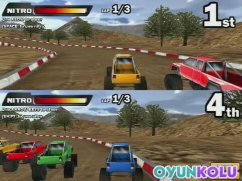 İki kişilik 4x4 araba yarışı oyununun oynanış videosu | İzlesene
