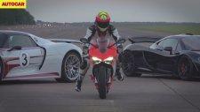 Mclaren P1 & Porsche 918 Spyder & Ducati 1199 Superleggera - Drag Yarışı